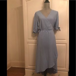 Topshop Dusty Emma Wrap Dress